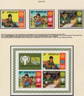 YEAR INTERN. OF CHILD - BHUTAN - Mi. Nr.  728/730 + BF 83 - NH - (6532-2.) - Bhoutan