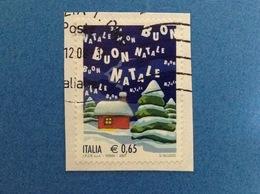 2007 NATALE 0,65 ITALIA FRANCOBOLLO USATO STAMP USED - 6. 1946-.. Repubblica