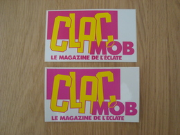 LOT DE 2 AUTOCOLLANTS CLAC MOB - Stickers