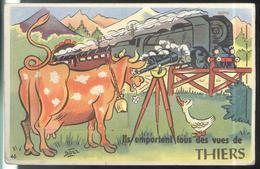 Carte à Système - Ils Emportent Tous Des Vues De Thiers - Non Circulée - Postkaarten