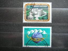 Symbols Headquarters Globes Peace Doves # United Nations UN Vienna Austria 1987 Used #Mi. 73/4 - Oblitérés