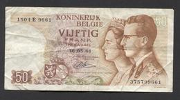 België 50 Frank 14-5- 1966 -NO: 1504 E 9661 - 50 Francs