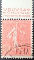 R1934/92 - 1924 - TYPE SEMEUSE LIGNEE - N°199 ☉ BANDE PUBLICITAIRE ☛ VOUVRAY MONOPOLE STE RADEGONDE EN TOURAINE - Werbung