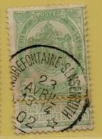 MW-3203   *  NNOIREFONTAINE SENSENRUTH  *     OCB  56       Sterstempel  COBA + 15 - 1893-1907 Armoiries
