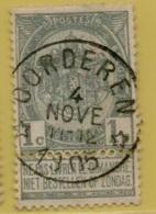 MW-3212   *  OORDEREN     *     OCB  53       Sterstempel  COBA + 8 - 1893-1907 Wappen