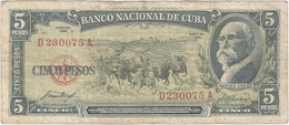 Cuba 5 Pesos 1958 Pk 91 A Ref 31 - Cuba