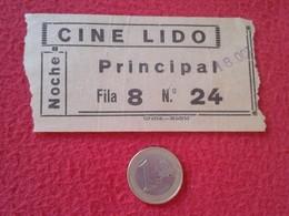 ESPAGNE SPAIN ENTRADA TICKET ENTRY ENTRANCE CINE LIDO MADRID ? NOCHE PRINCIPAL VER FOTO/S Y DESCRIPCIÓN. ESPAÑA IDEAL CO - Tickets - Entradas
