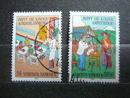 Vaccination Children # United Nations UN Vienna Austria 1987 Used #Mi. 77/8 Healthcare - Oblitérés