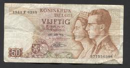 België 50 Frank 14-5- 1966 -NO: 1511 F 6388 - [ 6] Treasury