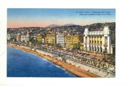 CPA La Côte D'azur Nice  Promenade Des Anglais  Palais De La Méditerranée Et Les Hôtels - Nice