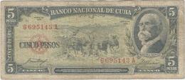 Cuba 5 Pesos 1958 Pk 91 A Ref 609-29 - Cuba