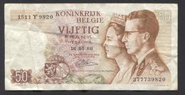 België 50 Frank 14-5- 1966 -NO: 1511 Y 9820 - [ 6] Staatskas