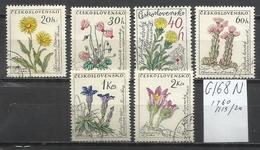 G168N-CHECOSLOVAQUIA REPUBLICA CHECA SERIE COMPLETA FLORA 1960 Nº1115/20 - Colecciones & Series