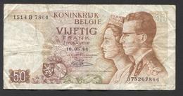 België 50 Frank 14-5- 1966 -NO: 1514 B 7864 - [ 6] Staatskas