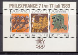 Suriname MNH NVPH Nr Block 50 From 1989 / Catw 7.00 EUR - Suriname