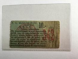 TICKETS D'ENTREE F.C . KLEIN - BRABANT BORNEM K.B.V.B. ( Année 1950/1960) - Tickets D'entrée