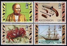 Ascension Island - 1982 - Sesquicentennial Of Charles Darwin Visit - Mint Stamp Set - Ascension (Ile De L')