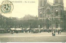 SAINT CHAMOND (42) - LE MARCHE PLACE DE LA LIBERTE 1908 - Eba-196 - Saint Chamond