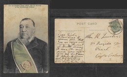 South Africa,  Paul Kruger, The Late President Of ZAR, Used JOHANNESBURG 25 JUL 07 > Paarl - South Africa