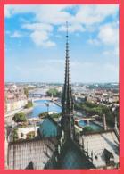CP-75-Notre-Dame De PARIS -Flêche De La Cathédralee Et Panorama -SUP *2 SCANS - Notre Dame De Paris
