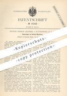 Original Patent - Francis Marion Lechner , Waynesburg , USA , 1881 , Schrämmaschine   Bergbau   Bergwerk   Werkzeug - Historische Dokumente