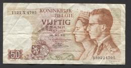 België 50 Frank 14-5- 1966 -NO: 1521 X 4705 - 50 Francs
