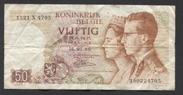 België 50 Frank 14-5- 1966 -NO: 1521 X 4705 - [ 6] Treasury