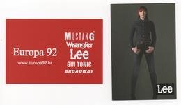 Pocket Calendar, Croatia, Lee, Mustang, Wrangler, Broadway, Gin Tonic 2008 - Calendars