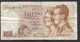 België 50 Frank 14-5- 1966 -NO: 1522 M 1725 - [ 6] Staatskas