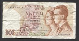 België 50 Frank 14-5- 1966 -NO: 1530 H 9679 - 50 Francs