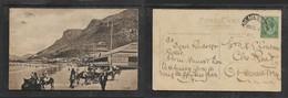 South Africa, Pavillion & Sands, Muizenberg, Donkeys, Used, 1/2d , ,RONDEBOSCH 29 DE // > Observatory - South Africa