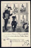 CPA ALSACE-LORRAINE OCCUPÉE- ILLUSTRATION HUMORISTIQUE D'HANSI- LECON D'HISTOIRE A UN BARON ALLEMAND- 2 SCANS - Poststempel (Briefe)