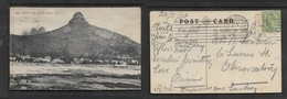 South Africa, Sea Point & Lion's Head, Used 1/2d, CAPETOWN FEB 25 1910 > OBSERVATORY ROAD FE 26 10 (arrival C.d.s.).) - South Africa