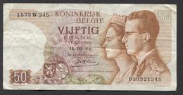 België 50 Frank 14-5- 1966 -NO: 1573 W 345 - 50 Francs