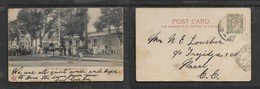 South Africa,Late Mr Kruger's Residence, Pretoria, Used 1/2d, JEPP(ES TOWN)B.O. JOHA(NNESBURG)8 MAR 05 > PAARL MR 11 5 - South Africa