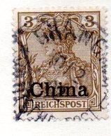 APR97 - CINA Uffici Tedeschi 1900 , Quattro Valori Usati - Ufficio: Cina