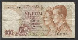 België 50 Frank 14-5- 1966 -NO: 1731 O 324 - 50 Francs