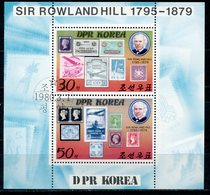 DPRK (NORTH KOREA) 1980 1973-1974 MARK ON THE MARK AVIATION. 100th Anniversary Of The Death Of Sir Rowland Hill, 1795-18 - Rowland Hill