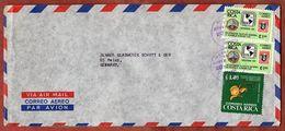 Luftpost, Briefmarken-Ausstellung + Orchidee, San Jose Nach Mainz 1976 (73362) - Costa Rica