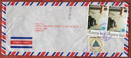 Luftpost, Expo Osaka U.a., San Jose Nach Mainz 1971 (73363) - Costa Rica