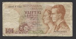 België 50 Frank 14-5- 1966 -NO: 2545 P 722 - [ 6] Tesoreria