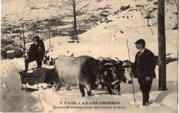 AX-LES-THERMES - Traineau Transportant Des Vivres à Orlu - Ax Les Thermes