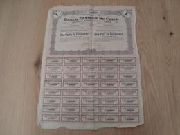 ACTION BANQUE FRANCAISE DU CHILI  50 $ 1917 - Banque & Assurance