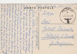 La Normandie Pittoresque, Montebourg ,(Cherbourg),Clocher St Jacques Vu  Place Jeanne D'Arc(TAMPON 19-7-1940 Feldpost - Cherbourg
