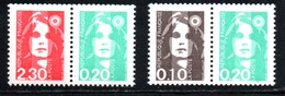 N° P2614 / P2617 ** - 1990 - 1989-96 Marianne Du Bicentenaire