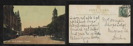 South Africa, Gardiner St & Railway Station, Durban, Used , 1/2d, DURBAN NATAL 1911 - South Africa