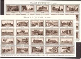 Ex Colonies OUTREMER 2 Feuilles De Vignettes Hélio Vaugirard ** ~ 1930/40 - France (ex-colonies & Protectorats)
