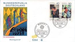 "BRD Schmuck-FDC ""Europa 1975: Gemälde"", Mi. 840/41 ESSt 15.4.1975 BONN 1 - FDC: Covers"