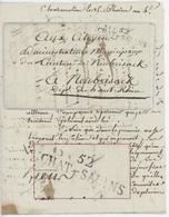 52 CHAT.SALINS Lettre De Château Salins An 4 - 14.2.1796 - Marcophilie (Lettres)