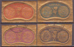 BAHAMAS 1968 SG #327-30 Compl.set Used Golden Coins - Bahamas (...-1973)